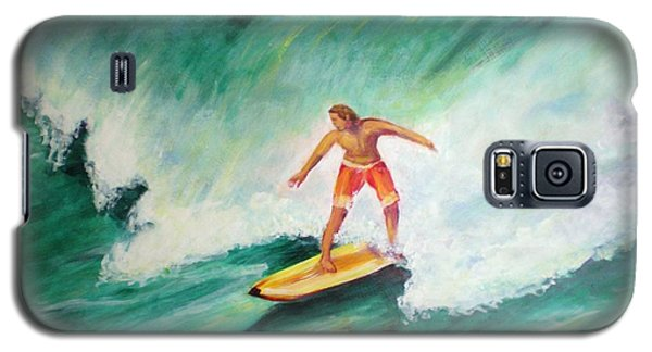 Galaxy S5 Case featuring the painting Surfer Dude by Patricia Piffath