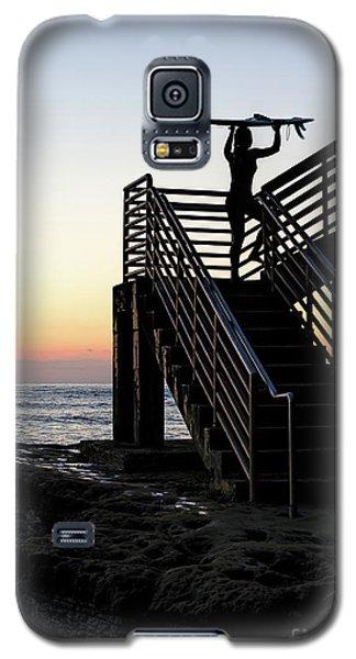 Surfer, Sunset Cliffs, San Diego, California  -74759 Galaxy S5 Case
