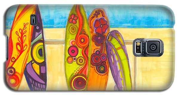 Surfing Buddies - Surf Boards At The Beach Illustration Galaxy S5 Case