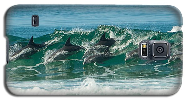 Surfing Dolphins 4 Galaxy S5 Case