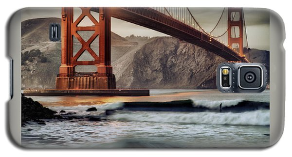 Galaxy S5 Case featuring the photograph Surfing The Shadows Of The Golden Gate Bridge by Steve Siri