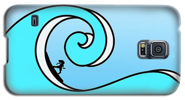 Surfing The Wave Galaxy S5 Case