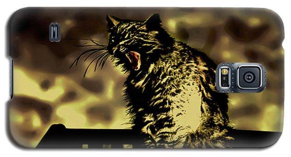 Surreal Cat Yawn Galaxy S5 Case by Gina O'Brien