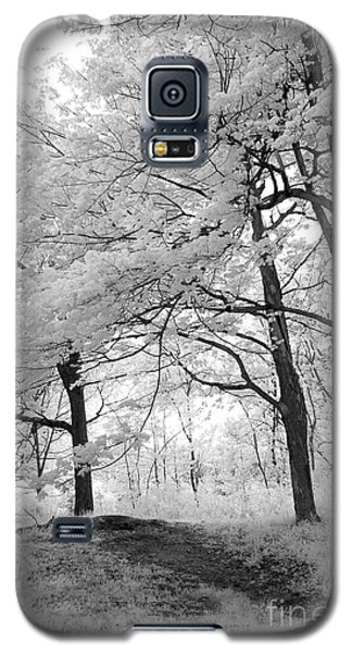 Galaxy S5 Case featuring the photograph Surreal Infrared Black White Nature Trees - Haunting Black White Trees Nature Infrared by Kathy Fornal