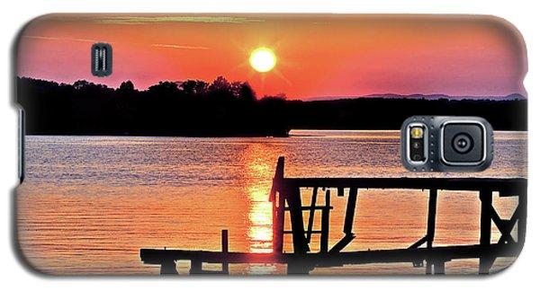 Surreal Smith Mountain Lake Dock Sunset Galaxy S5 Case