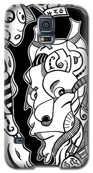 Surrealism Pagan Black And White Galaxy S5 Case