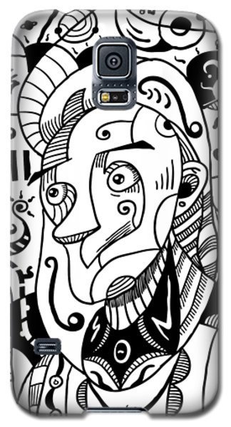 Surrealism Philosopher Black And White Galaxy S5 Case