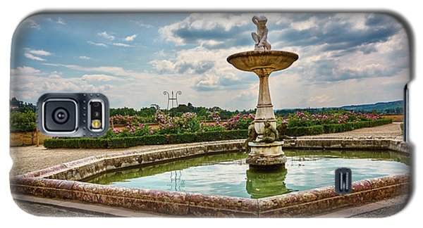 The Monkeys Fountain At The Gardens Of The Knight In Florence, Italy Galaxy S5 Case