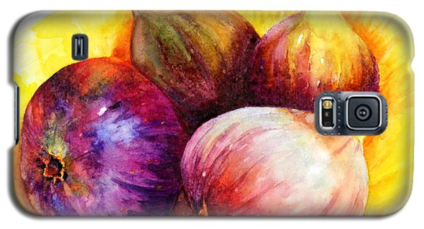 Galaxy S5 Case featuring the painting Susan's Figs by Bonnie Rinier