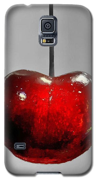 Galaxy S5 Case featuring the photograph Suspended Cherry by Suzanne Stout