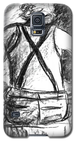 Galaxy S5 Case featuring the painting Suspenders by Cathie Richardson