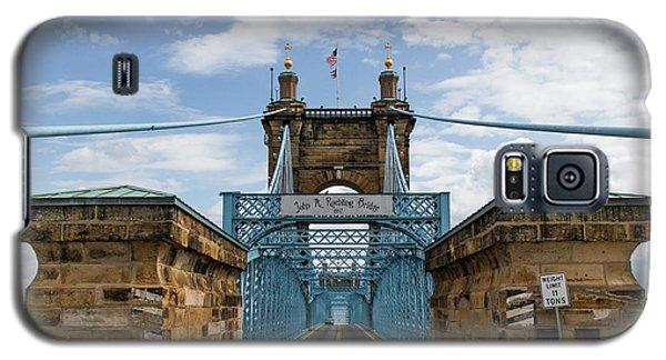 Suspension Bridge Wide Angel Galaxy S5 Case by Scott Meyer