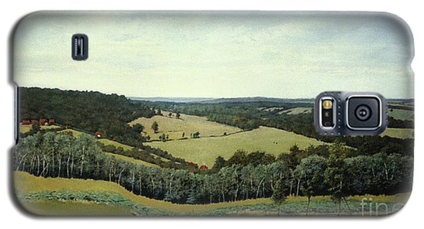 Galaxy S5 Case featuring the painting Sussex England - Landscape In Oils by Gillian Owen