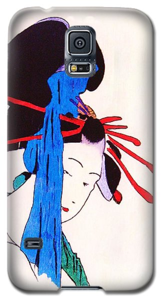 Galaxy S5 Case featuring the painting Sutekina Geisha Ni by Roberto Prusso