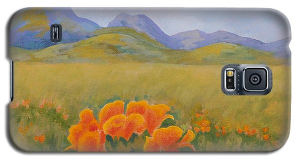 Sutter Buttes With California Poppies Galaxy S5 Case