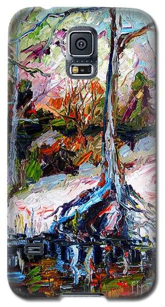 Galaxy S5 Case featuring the painting Suwanee River Black Waters Modern Art by Ginette Callaway