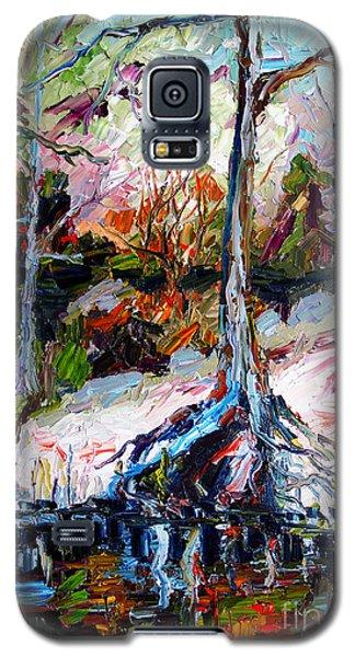 Suwanee River Black Waters Modern Art Galaxy S5 Case