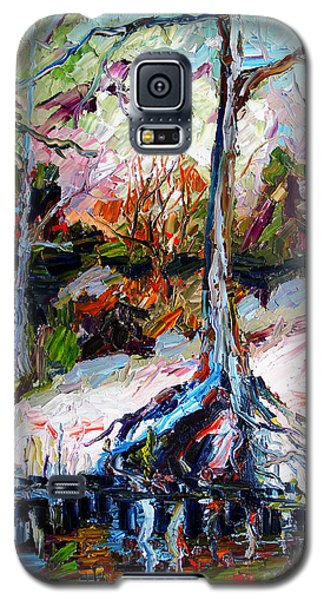 Suwanee River Black Waters Modern Art Galaxy S5 Case by Ginette Callaway