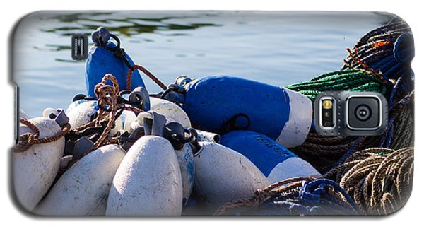 Sw Harbor Lobster Buoys  Galaxy S5 Case by Dick Botkin