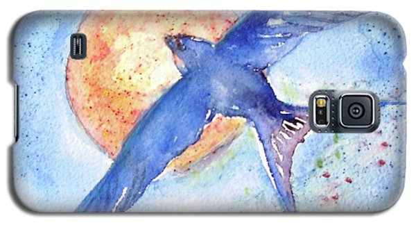 Galaxy S5 Case featuring the painting Swallows Return  by Trudi Doyle