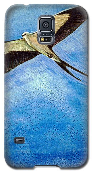 Galaxy S5 Case featuring the mixed media Swallowtail Sighting by Suzanne McKee