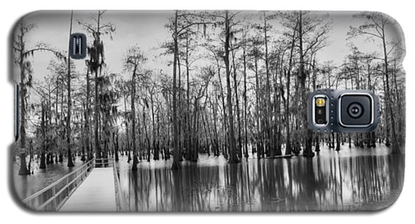 Swamp Dock Black And White Galaxy S5 Case by Ester  Rogers