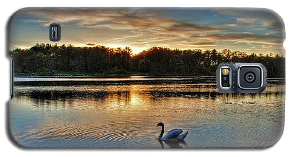 Swan At Sunset Galaxy S5 Case