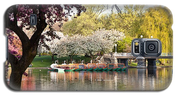 Swan Boats With Apple Blossoms Galaxy S5 Case