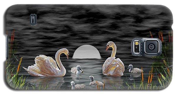 Swan Family Galaxy S5 Case by Terri Mills