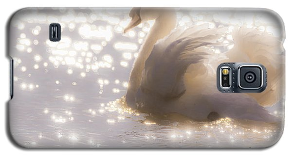Swan Of The Glittery Early Evening Galaxy S5 Case
