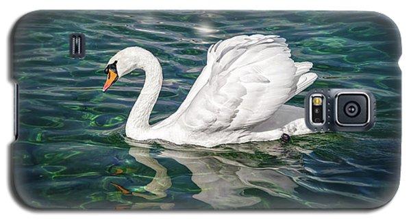 Swan On Lake Geneva Switzerland  Galaxy S5 Case
