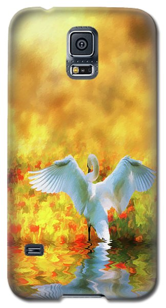 Galaxy S5 Case featuring the photograph Swan Song At Sunset Thanks For The Good Day Lord by Diane Schuster