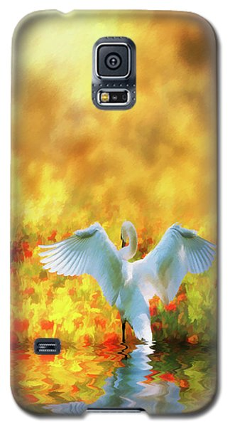 Swan Song At Sunset Thanks For The Good Day Lord Galaxy S5 Case