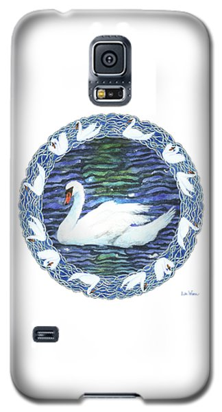 Swan With Knotted Border Galaxy S5 Case