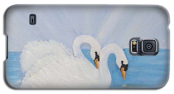 Swans On Open Water Galaxy S5 Case