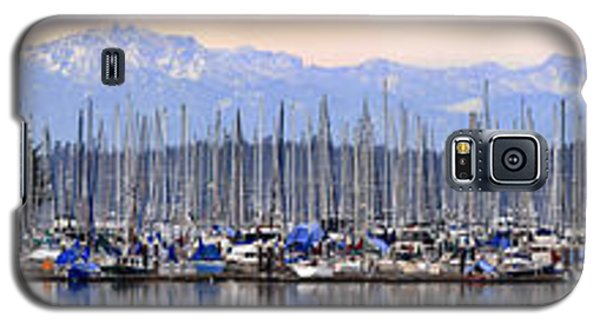 Galaxy S5 Case featuring the photograph Swantown Marina Olympia Wa by Larry Keahey