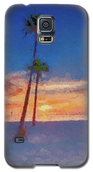 Galaxy S5 Case featuring the photograph Swaying Palms by Marvin Spates