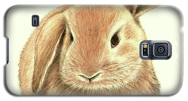 Galaxy S5 Case featuring the drawing Sweet Bunny by Heidi Kriel