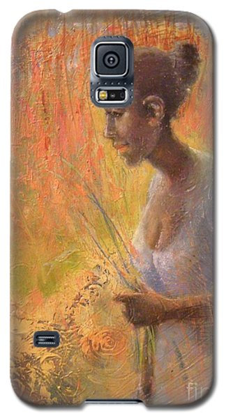 Galaxy S5 Case featuring the painting Sweet Grass by Gertrude Palmer