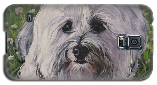 Galaxy S5 Case featuring the painting Sweet Havanese Dog by Lee Ann Shepard
