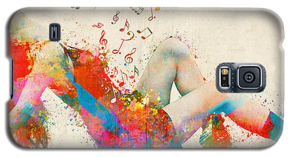 Galaxy S5 Case featuring the digital art Sweet Jenny Bursting With Music Cropped by Nikki Marie Smith