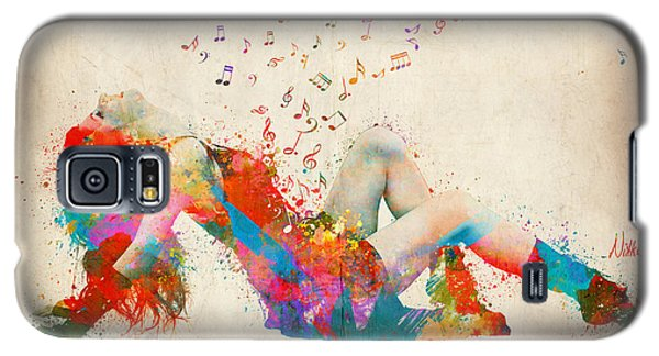 Rock And Roll Galaxy S5 Case - Sweet Jenny Bursting With Music by Nikki Smith