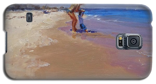 Galaxy S5 Case featuring the painting Sweet Memories by Laura Lee Zanghetti