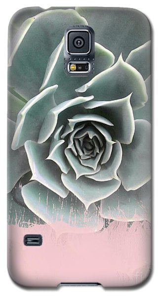 Sweet Pink Paint On Succulent Galaxy S5 Case