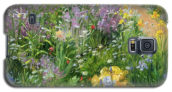 Sweet Rocket - Foxgloves And Irises Galaxy S5 Case by Timothy Easton