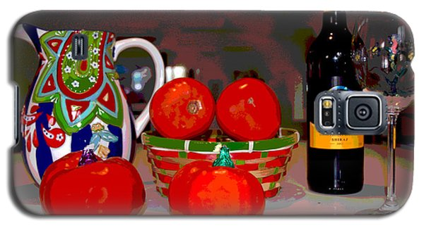 Galaxy S5 Case featuring the mixed media Sweet Tomatoes by Charles Shoup