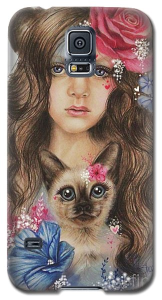 Galaxy S5 Case featuring the mixed media Sweetheart by Sheena Pike