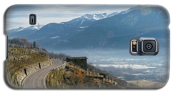 Swerving Road In Valtellina, Italy Galaxy S5 Case