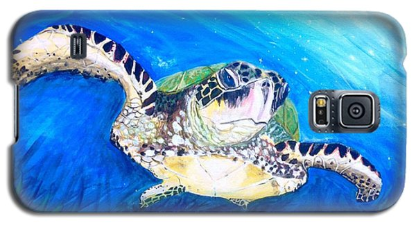 Galaxy S5 Case featuring the painting Swim by Dawn Harrell