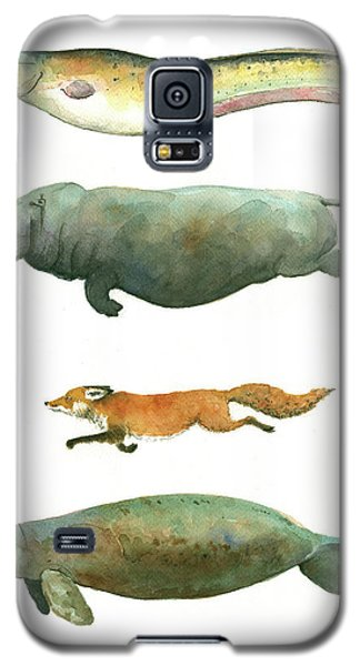 Catfish Galaxy S5 Case - Swimming Animals by Juan Bosco